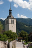 Church tower at Gruyères