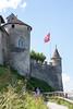 Gruyères castle wall