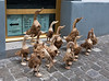 Wooden geese