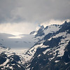 Zoomed in view across the valley to the Glacier d'Orny