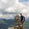 We had lunch at this cairn, overlooking Verbier to the northeast and Commeire to the southwest.