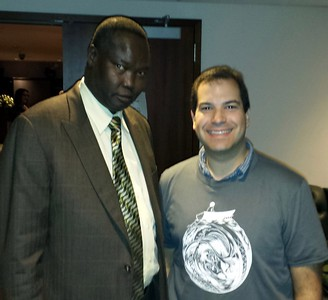 Craig with Akec Khoc, ambassador to the United States from South Sudan