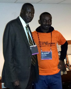 Akec Khoc (ambassador to the United States from South Sudan) with Sudanese activist Anwar Dafa-Alla