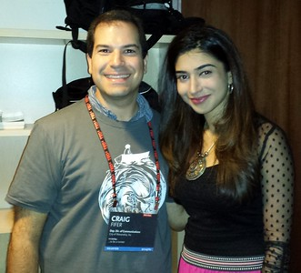 Craig (l) with Shiza Shahid, executive director of The Malala Fund