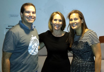 Craig (l) with education reform advocate Carrie Irvin and children's author and director Jennifer Oxley