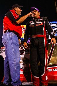 """Michael """"Spanky"""" Despain (L) and race winner Randy Weaver (R)"""