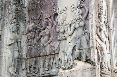 Ladies in Angkor Wat.
