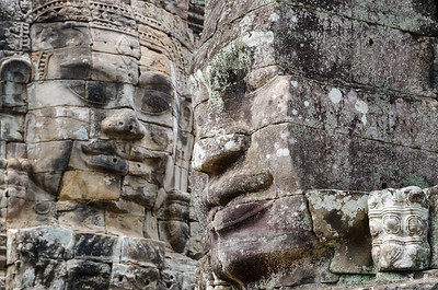 Some of the many many faces at Angkor Thom.