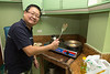 Mr Dy cooking breakfast on our first morning in the Philippines