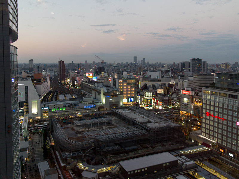 View over Shinjuku station