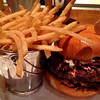 Burger & fries at Holstein's