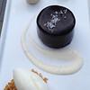 Dark Chocolate Bavarian: Caramelized Banana Soldiers, Crème Fraîche Ice Cream