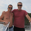 Denis and Erik on the boat