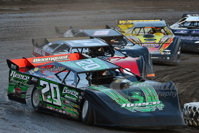 (20) Jimmy Owens, (44) Earl Pearson, Jr., (81) Randy Korte, (21JR) Billy Moyer, Jr.