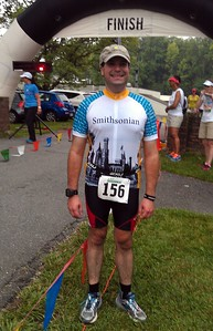 Craig after crossing the finish line.  Sadly, there were no finisher medals. :(