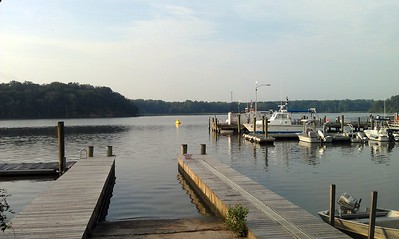 The boat ramp was used to enter and exit the water