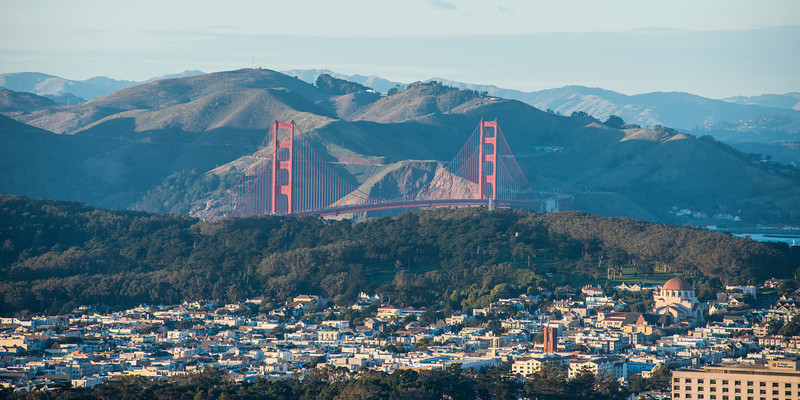 Golden Gate Bridge from Twin Peaks