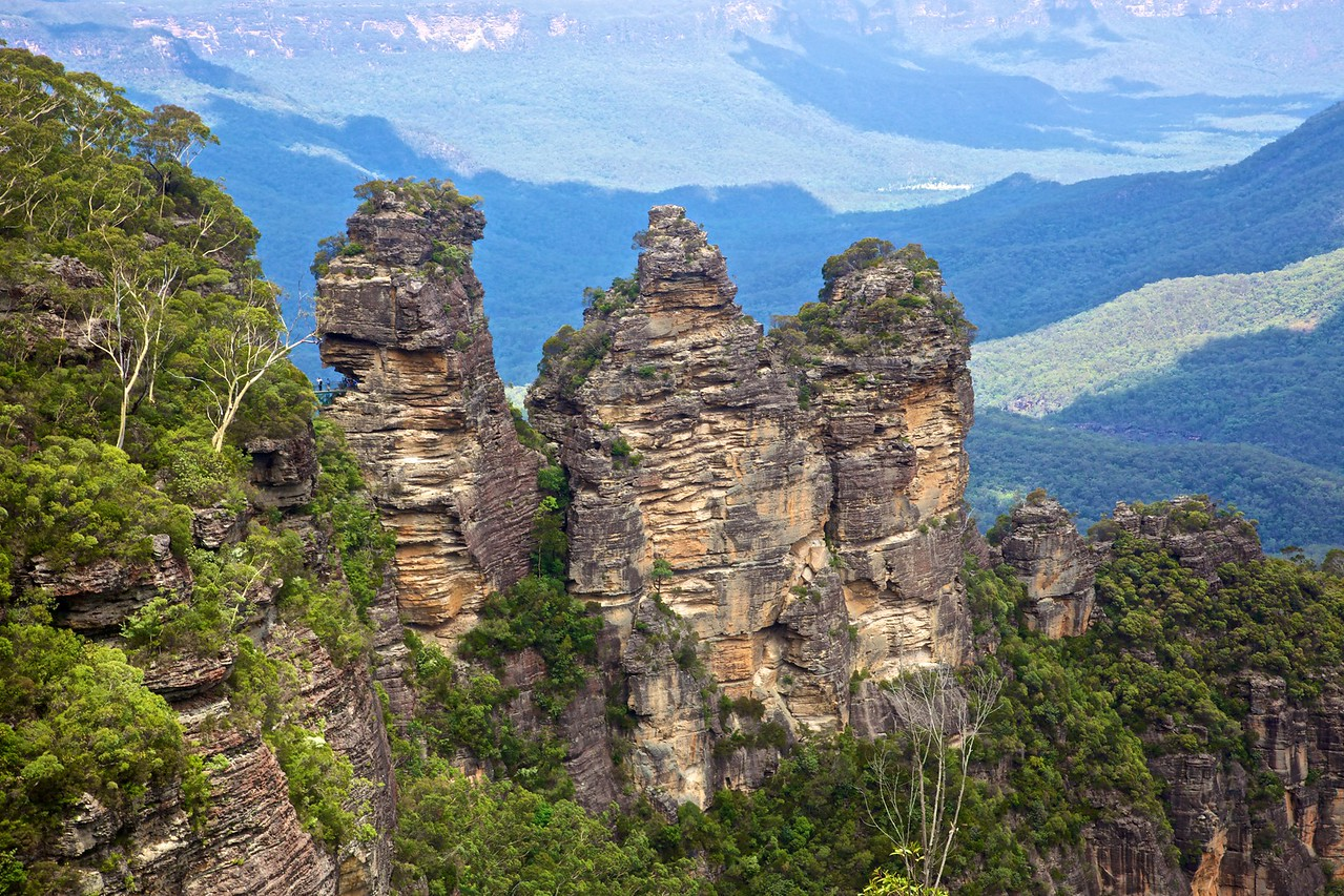 The Three Sisters, this time during the day in the summer.