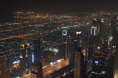 View from Burj Khalifa, Dubai, UAE