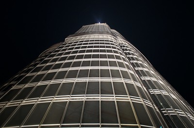 View to the top of Burj Khalifa, Duabi, UAE
