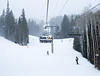 Chairlift in the snow