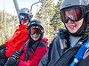 Chip, Joey, and Benjamin on the chairlift