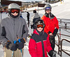 Benjamin, Joey, and Chip in the lift line