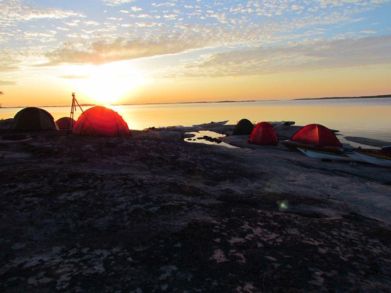 Tistronskär vid soluppgång foto Anita karlén