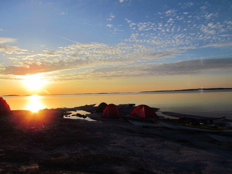 Soluppgång över Tistronskär foto Anita Karlén
