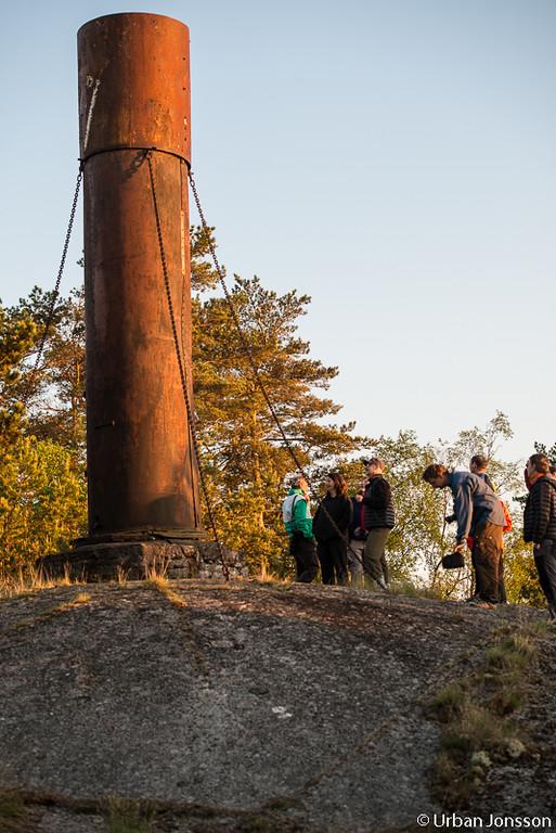Skorstenen efter Hammarby som förliste vid ön. Skorstenen restes i början av 1900 talet.