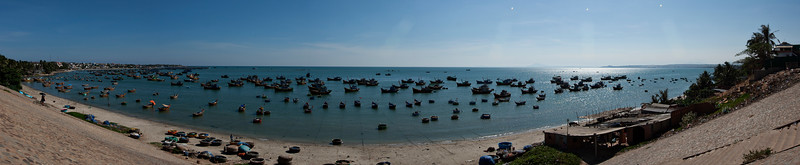 A panoramic of the fishing village.