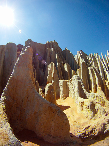 """A small creek dubbed """"Fairy Stream"""" has carved out some cool formations from the sandstone of the ancient dunes."""