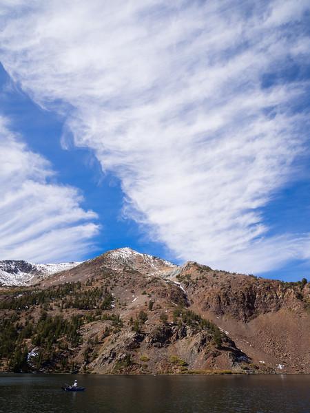 Split clouds over Virginia Lake