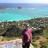 Erik at the top of the Pillbox Hike in Kailua