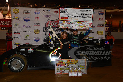 Chris Madden in Victory Lane