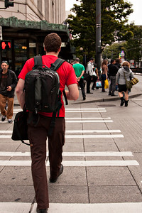 The streets of Seattle were packed with people.