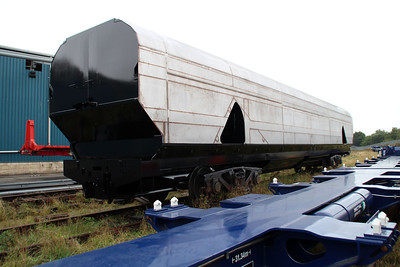 Unnumbered half finished New Biomass Wagon in the works yard.