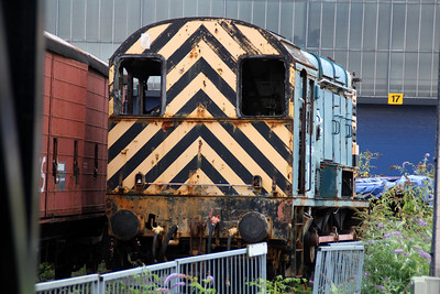 Withdrawn and derelict 08536 at Derby RTC.
