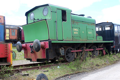 Ind 09-6-0DM D615 at the Blaenavon & Pontypool Railway, Furnace sidings.