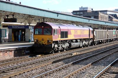 66037 0816/6B80 Westbury-Machen passes Newport.