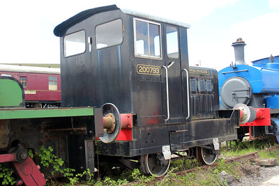 Ind 0-4-0DM 200793 at the Blaenavon & Pontypool Railway, Furnace sidings.