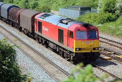 60017 1354/6v75 Dee Marsh-Margam arrives at Llanwern West Junction.