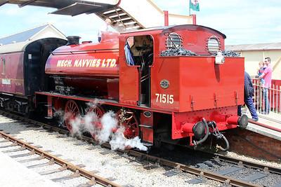 Ind 0-6-0st 71515 at Blaenavon Furnace Station.