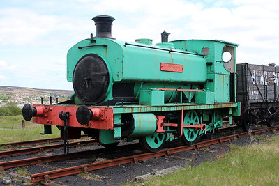 Ind 0-4-0st No6 / 1680 'Nora' seen at the Big Pit Mining Museum, Blaenavon.
