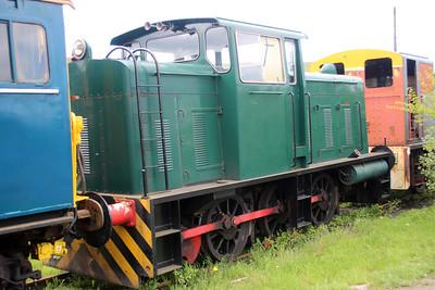 Ind 0-6-0DM D1186 at the Blaenavon & Pontypool Railway, Furnace sidings.