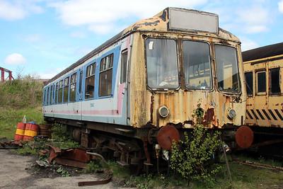Scrapped DMU 51942 at the Blaenavon & Pontypool Railway, Furnace sidings.