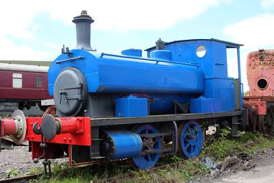 Ind 0-4-0st 1823 at the Blaenavon & Pontypool Railway, Furnace sidings.