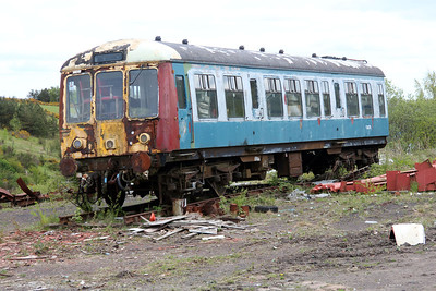 Scrapped DMU M54270 at the Blaenavon & Pontypool Railway, Furnace sidings.