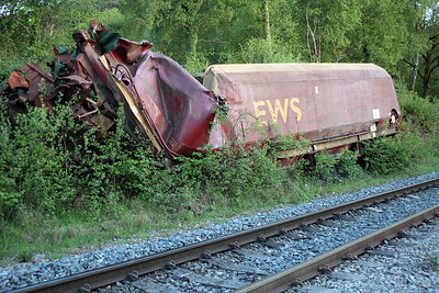 HTA 310200 still intact from a derailment on the Onllwyn branch back in August 2003.