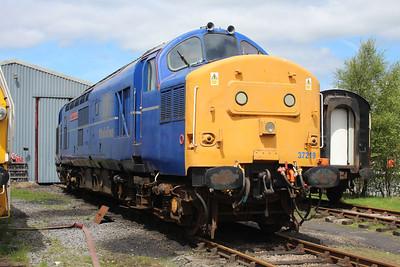 37219 at the Blaenavon & Pontypool Railway, Furnace sidings.